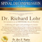 Dr. Lohr Receives Prestigious Back Pain Treatment Award